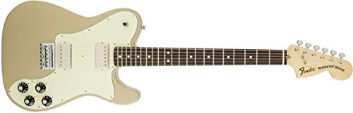 (Fender Chris Shiflett Telecaster Deluxe Rosewood Fingerboard Electric Guitar, Shoreline Gold)
