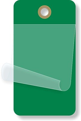 1¾'' x 3¼'' Dark, Self-Laminating Tag, 10 mil Vinyl and Clear Flap, 10 Tags/Pack, 3.25'' x 1.75'' by XpressTags