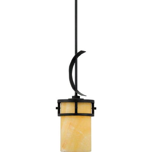 Quoizel KY1507IB Kyle Rustic Mini Pendant Lighting, 1-Light, 100 Watts, Imperial Bronze (20