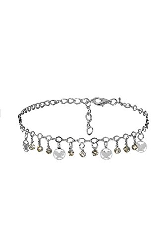 Ancient Egyptian Dancers' Costumes (Anklet Feet Butterfly Pendant Charm Bracelet String Bangle Women Jewelry (Silver))