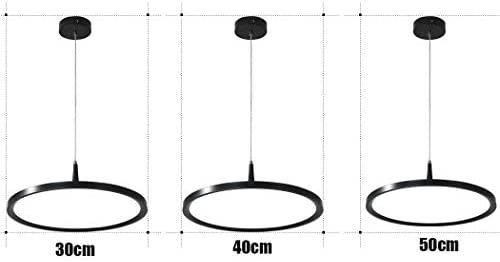 &Pendant Chandelier LED Chandelier, Simple Modern Fashion Creative Personality Black and White Single Head Living Room Bedroom Lamp Decoration Chandelier (Color : B-Warm Light)