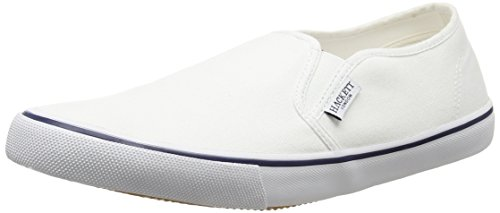 Slip para Hackett Hombre White Blanco London Bamba On Mocasines gEqROwq