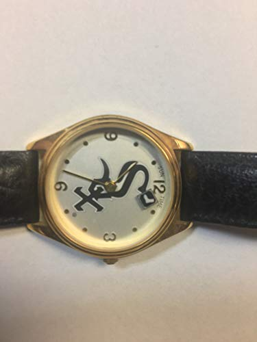 Logo Time Watch - Sun Time Chicago White Sox Floating Logo Watch With Leather Band Needs Battery