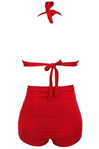 Aodicon Damen Bikini-Set rot rot
