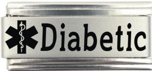 - Diabetic Medical Alert Italian Charm Bracelet Jewelry Link