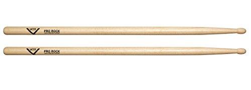 Wood Tip Hickory Drum Sticks, Pair (Rock Sticks)