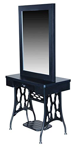 """Icarus""""Logan"""" Double Sided Salon Styling Station with Mirror"""