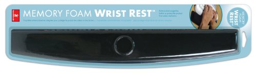 Handstands 59207 Memory Foam Standard Wrist Rest-Black