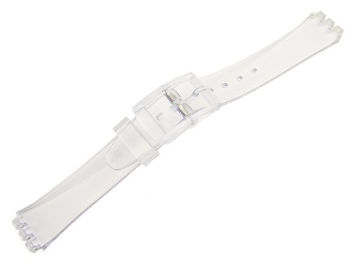 12mm Clear Transparency Replacement Watch Strap for Standard Ladies Swatch - Watch Band Clear