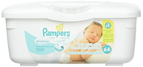 Pampers Sensitive Wipes (2 Tubs, 128 Count, Sensitive)