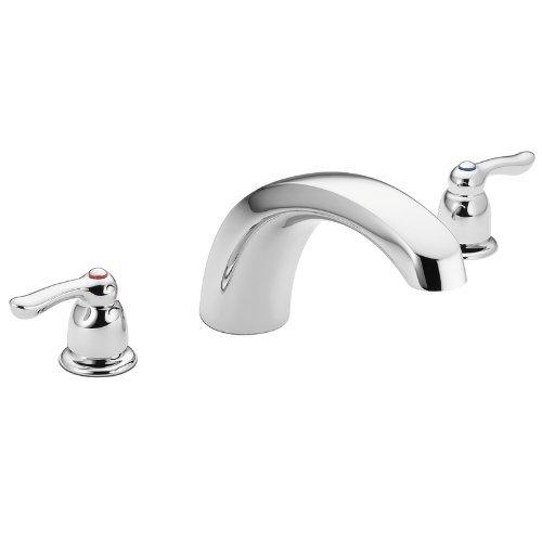 (Moen T990 Chateau Two-Handle Low Arc Roman Tub Faucet without Valve, Chrome by Moen)