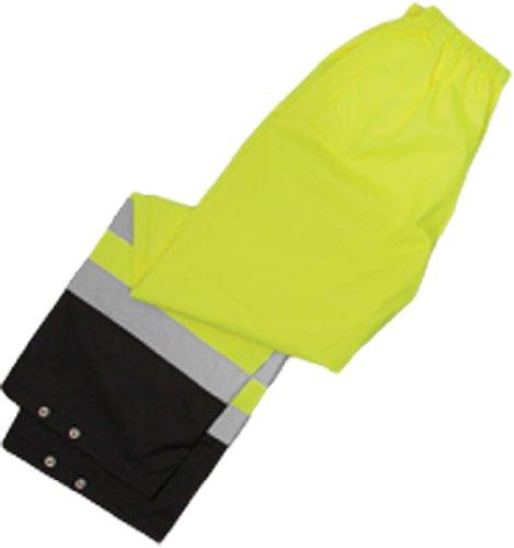 ML Kishigo RWP102 Storm Cover High-Viz Rainwear Pant, Fits Small and Medium, Lime