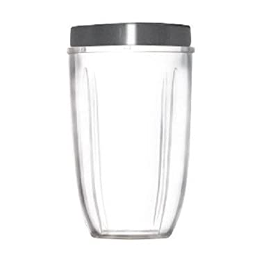 Nutribullet Tall Blending Cup with Screw off Comfort Lip Ring, 24 OZ