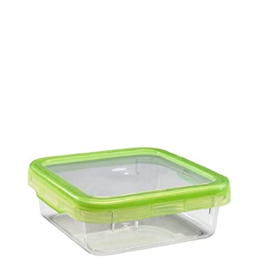 OXO Good Grips LockTop 30-2/5-Ounce Square Container with Green Lid