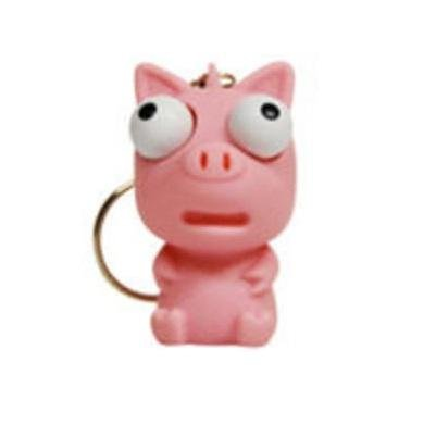 Cute Squishies Key Chain * Animal Eye Popper (PIG)