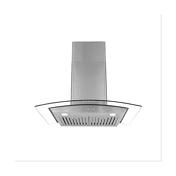 Cosmo COS-668WRC75 760 CFM, 30 inches Ducted Wall Mount Range Hood in Stainless Steel with Push Button Controls, LED Lighting and Permanent Filters