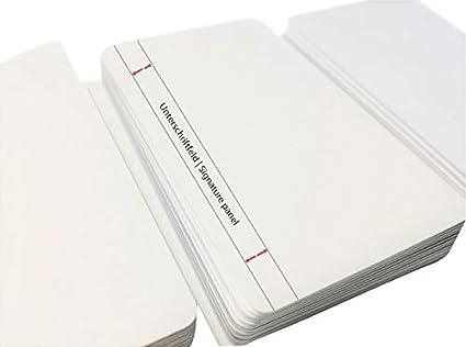 Premium Tarjetas de plástico blanco con tarjeta de firma ...