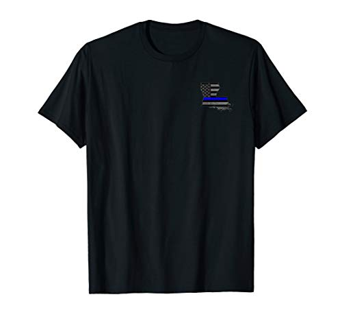 Louisiana Police Officer Thin Blue Line Policemen T-Shirt]()