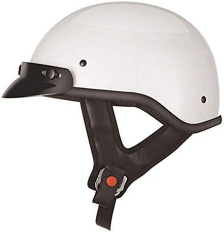 オートバイレトロポータブルハーフヘルメット男性と女性の電気自動車四季のユニバーサルヘルメットヘルメット (Color : 白, サイズ : S)