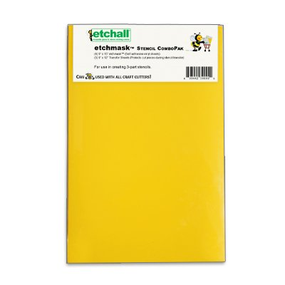 etchall etchmask: 9''x15'' Blank Stencil Vinyl (8 Sheets) by Etchall