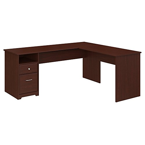 Bush Furniture Cabot 72W L Shaped Computer Desk with Drawers