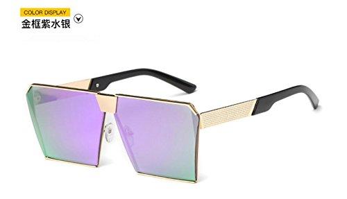 Gold box Europa coreano de en sol Unidos la moda GLSYJ las gato los Ojos gafas purple de de sol cuadrado y de Versión Estados water gafas cajas grandes LSHGYJ gafas sol tqXp4cgwfg