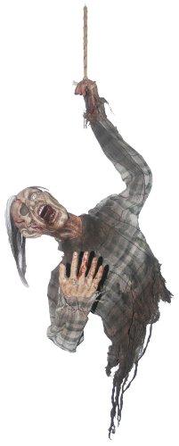 [Hanging Bloody Zombie Torso Halloween Prop Skeleton Realistic Haunted House] (Hanging Halloween Props)