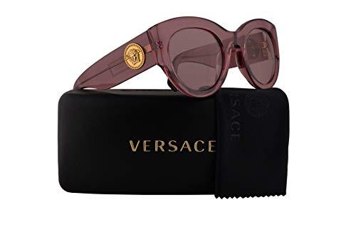 Versace Pink Lens - Versace VE4353 Sunglasses Transparent Pink w/Light Violet Lens 51mm 523484 VE 4353