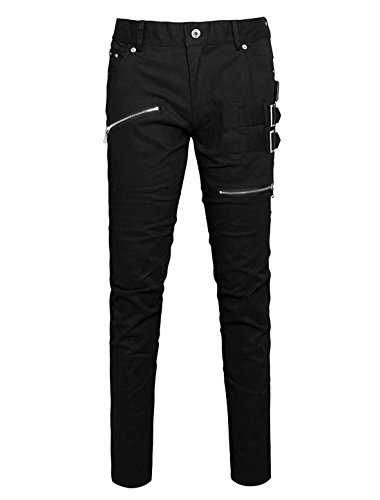 uxcell Allegra Pockets Buckles Zipper