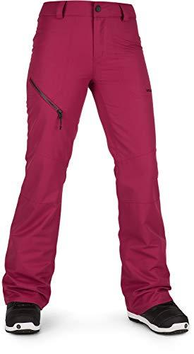 Magenta Womens Snowboard Boots - Volcom Women's Hallen Modern Slim Fit Snowpant, Magenta, Large