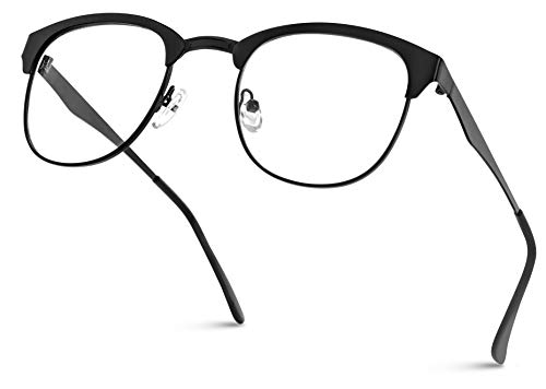 fake glasses half rim - 4