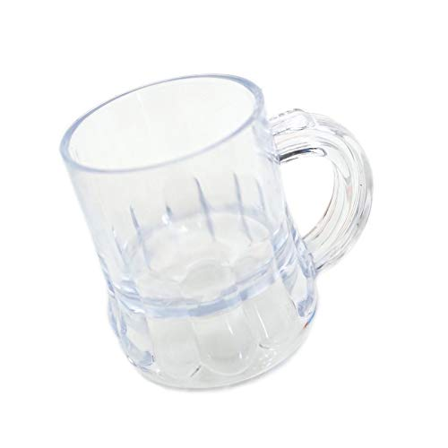 Lot of 12 pc. 1 Ounce Mini Mugs, Shot Cup, Clear ()