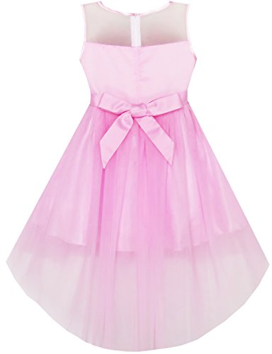 Tulle Pink Fashion Princess Party Mesh Wedding Sunny Sequin Dress Girls O7FWwBHZ