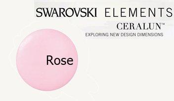 - Swarovski Ceralun Ceramic Composite, Rose 2 X 50gram