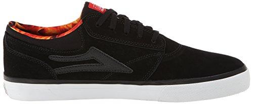 Lakai Griffin - Zapatos de cuero para hombre negro - Noir (Black Suede Spitfire)