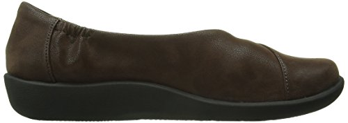 CLARKS Women's CloudSteppers Sillian Jetay Flat Dark Brown Synthetic Nubuck big discount cheap online latest collections cheap price cheap price top quality best sale online outlet footlocker finishline 5Iqx4C
