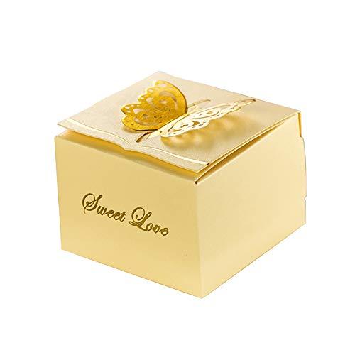 KAZIPA 50pcs Laser Cut Candy Boxes,2.6