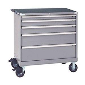 Lista - HS0750-0505FA-M/LG - 22-1/2 x 40-1/4 x 41-1/2 Light Gray Mobile Workbench Cabinet, 440 lb. Load Capacity
