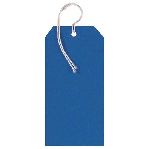 50 BLUE COLOURED LABEL TAGS LUGGAGE CARD 240GSM 120 X 60MM