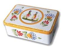 Hb Henriot Quimper (Quimper Tin Cookie Box - Hortense)