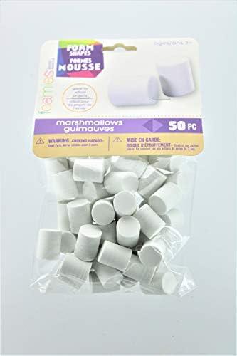 1035-81 Foam Marshmallow Shapes 50//Pkg-15mmX18mm