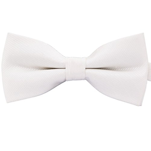 Amajiji Formal Dog Bow Ties for Medium & Large Dogs (D012 100% Polyester) (White) (Ties Dog Bow White)