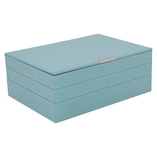 WOLF 300605 Large Stackable Tray Set, Aqua by WOLF
