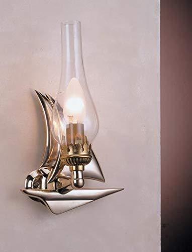 Außergewöhnliche Messing Wandlampe Maritim Segelschiff Flur Wohnzimmer Badezimmerlampe Leuchte