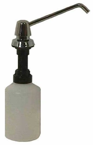 "Bobrick 82216 ABS Lavatory Mounted Soap Dispenser, 20 oz Capacity, 6"" Spout length"