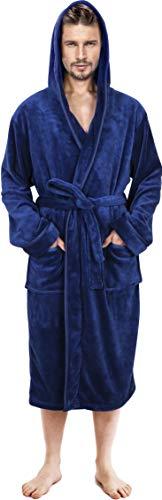 NY Threads Mens Hooded Robe - Pl...