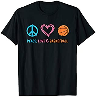 Cool gift Basketball : Peace Love and Basketball  Women Long Sleeve Funny Shirt / Navy / S - 5XL
