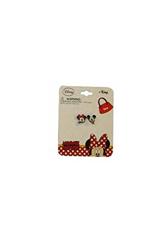 [Disney Mickey and Minnie Mouse Faces Baby Girl Dress Up Ring - Costume Jewelry] (Maleficent Toddler Costumes)