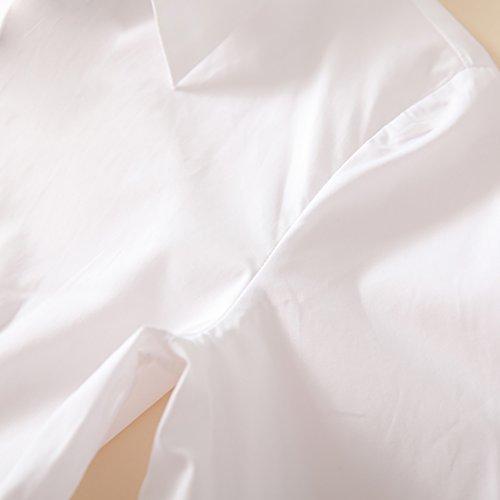 Chemisier Casual Chemise Chic Blouse Coton Longue Manches Blanche Dentelle Femme Fille URSFUR Hxwn71q7