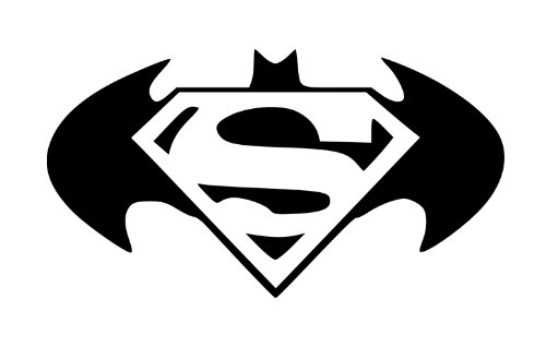 Batman Superman Logo Racing Car Symbol Funny Bumper Sticker Van